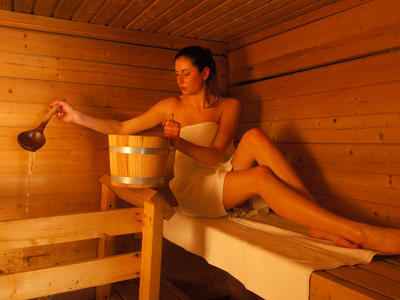 We couldn't miss a relaxing sauna